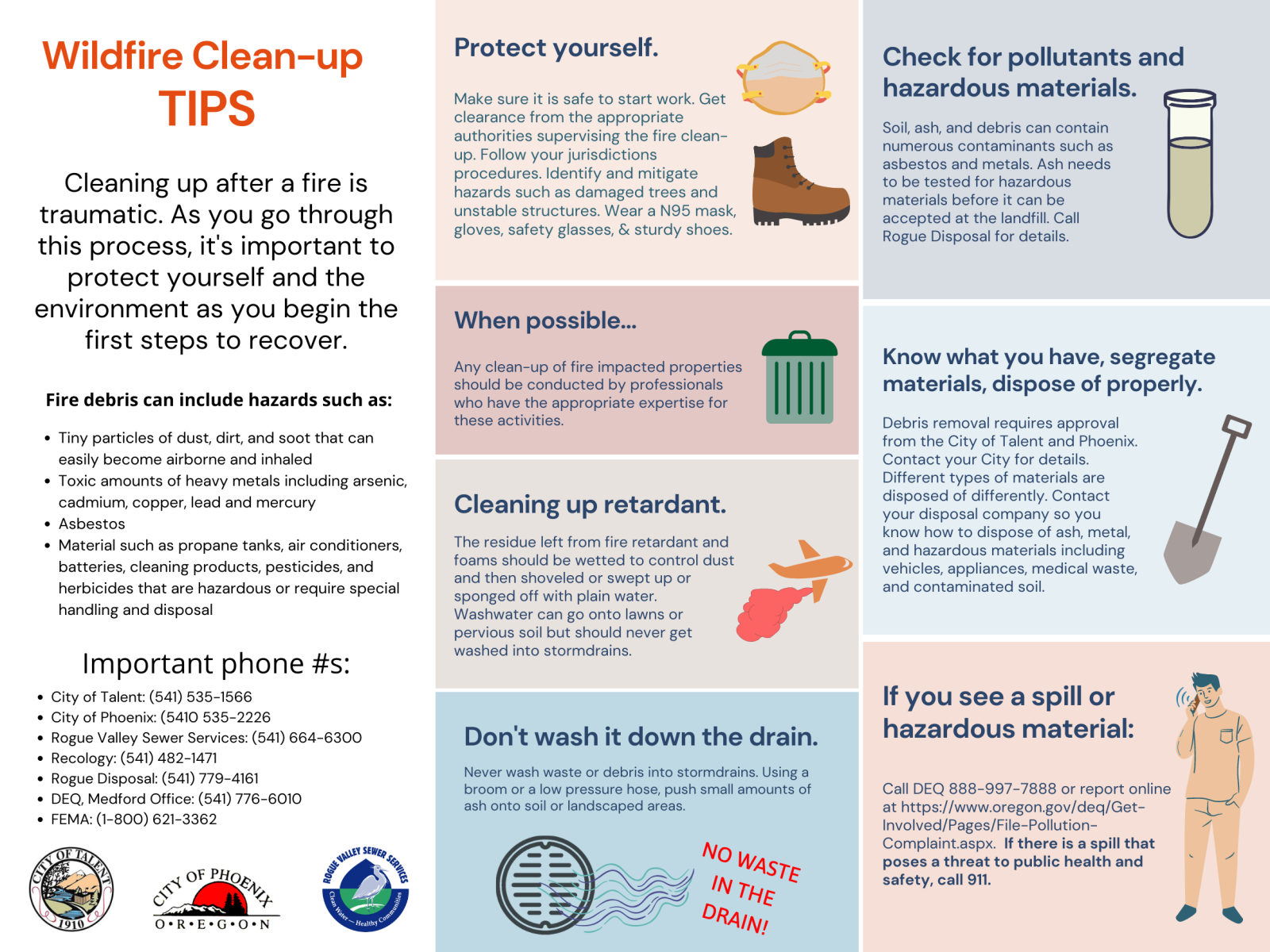 Wildfire Clean-up Tips Sept 25